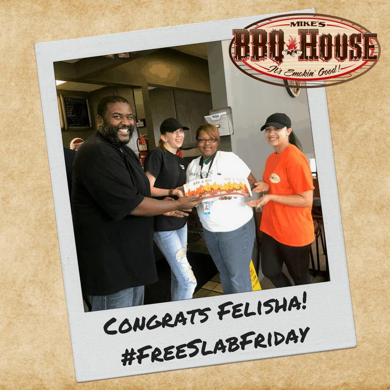 Free Slab Friday Winner - Felicia L.